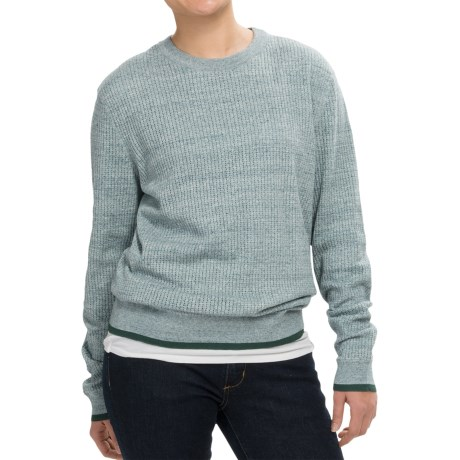 Inhabit Honeycomb Heathered Sweater - Crew Neck (For Women)