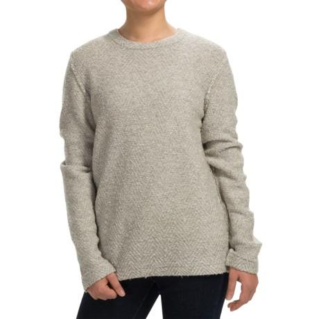 Inhabit Luxury Blend Tweed Sweater - Merino Wool Blend (For Women)