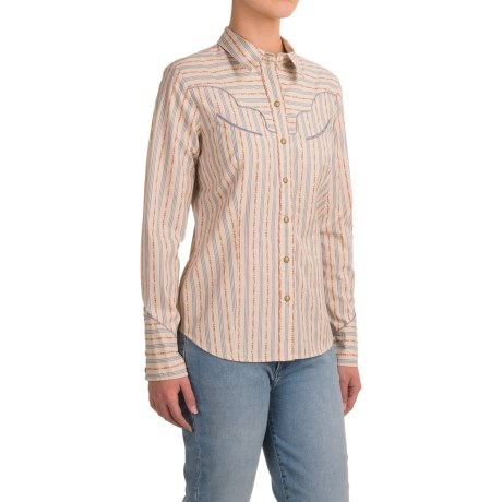 Pendleton Woven Cotton Shirt - Snap Front, Long Sleeve (For Women)