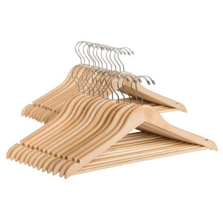 Great American Hanger Co. Flat Body Wooden Suit Hangers - 25-Pack