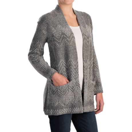 Inhabit Jacquard Open-Front Cardigan Sweater - Merino Wool (For Women)