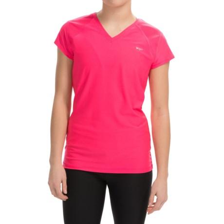 Vogo V-Neck Mesh T-Shirt - Short Sleeve (For Women)