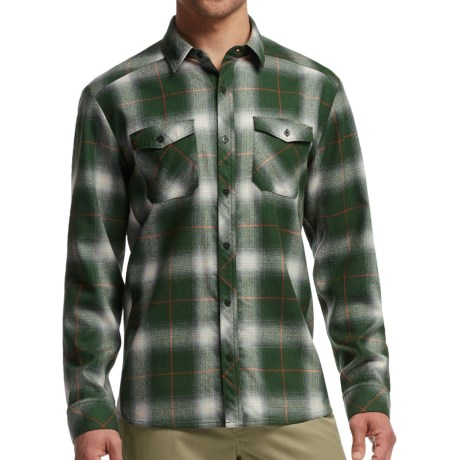 Icebreaker Lodge Flannel Shirt - UPF 30+, Merino Wool, Long Sleeve (For Men)