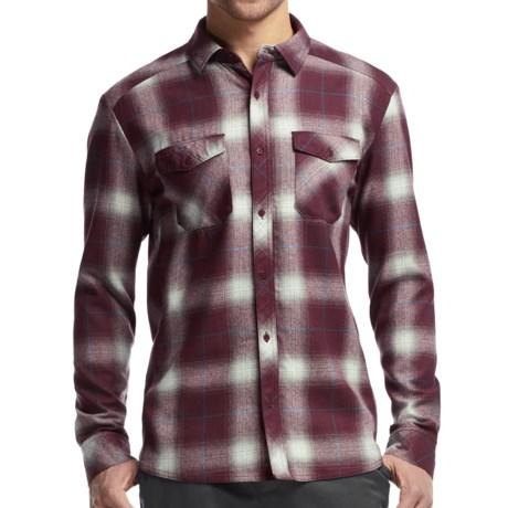 Icebreaker Lodge Flannel Shirt - UPF 30+, Merino Wool, Long Sleeve (For Men)