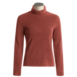 ExOfficio Irresistible Chenille Feather Fleece Turtle Neck Long Sleeve Shirt (For Women)