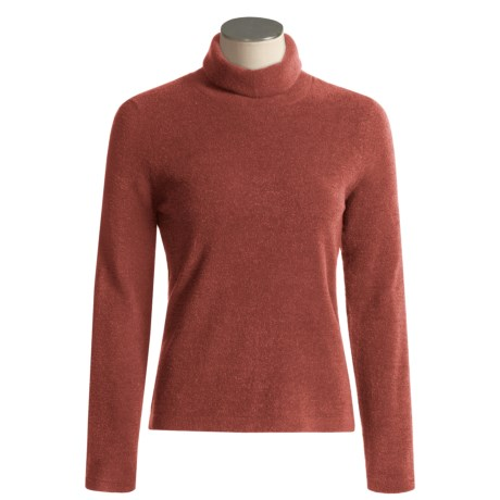 ExOfficio Irresistible Chenille Feather Fleece Turtle Neck Long Sleeve Shirt (For Women)