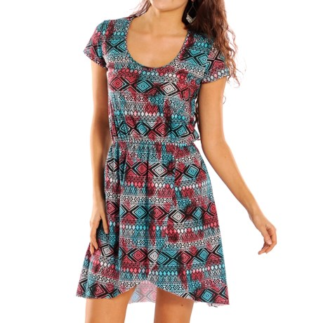 Rock & Roll Cowgirl Aztec Print Dress - Short Sleeve (For Women)