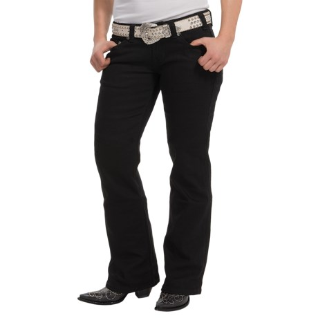 Rock & Roll Cowgirl Rhinestone Riding Jeans - Mid Rise, Bootcut (For Women)