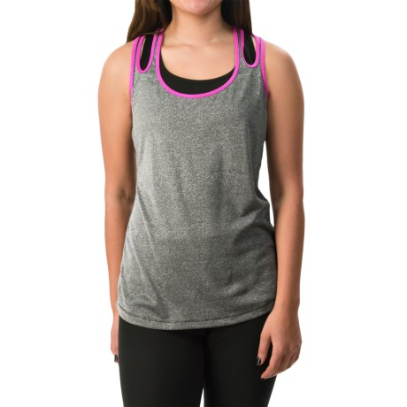 Layer 8 Double-Strap Singlet Tank Top - Racerback (For Women)