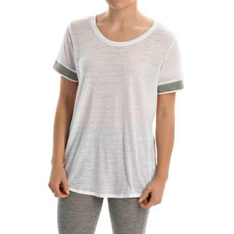 Marc New York Performance Burnout T-Shirt - Short Sleeve (For Women)