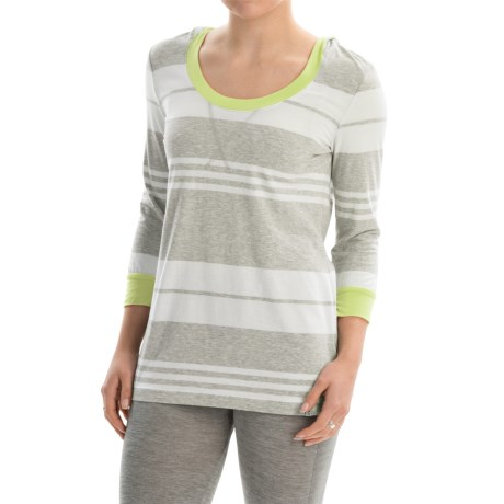Marc New York Performance Stripe Hooded T-Shirt - 3/4 Sleeve (For Women)