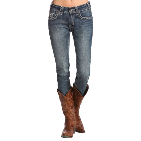 Rock & Roll Cowgirl Zigzag Detail Skinny Jeans (For Women)