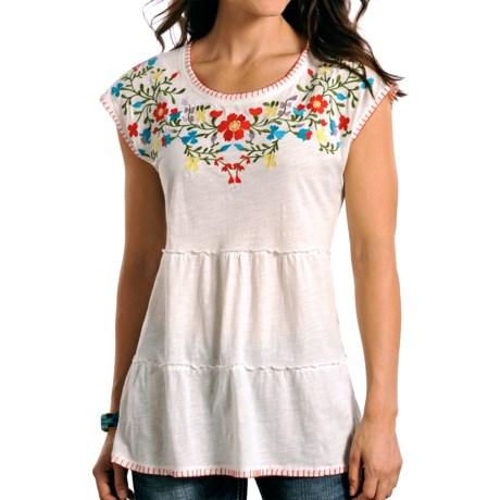 Panhandle Slim Tiered Tunic Shirt - Sleeveless (For Women)