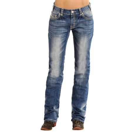 Rock & Roll Cowgirl Abstract Boyfriend Jeans - Bootcut (For Women)
