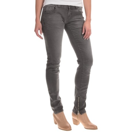 Rock & Roll Cowgirl Moto Skinny Jeans - Low Rise (For Women)