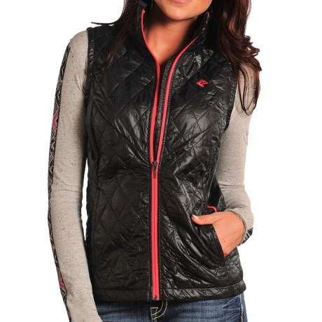 Rock & Roll Cowgirl Lightweight Quilted Vest - Insulated (For Women)