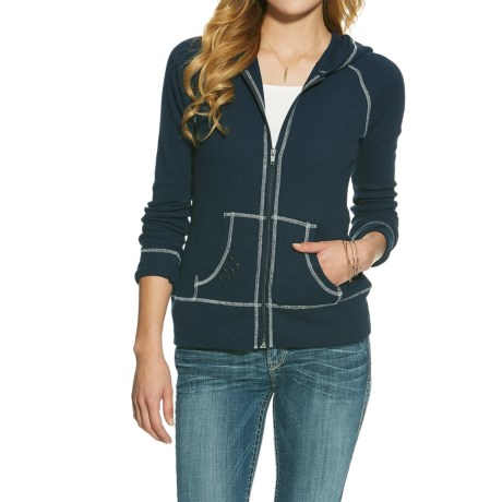 Ariat Miranda Waffle Hoodie - Full Zip (For Women)