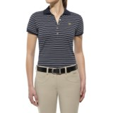 Ariat Prix Stripe Polo Shirt - Short Sleeve (For Women)