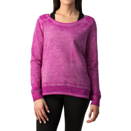 Pink Lotus Prosper Sweatshirt - Crew Neck (For Women)