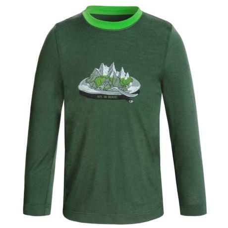 Icebreaker Tech Alps for Breakfast Shirt - Merino Wool, Long Sleeve (For Little and Big Kids)