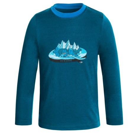 Icebreaker Tech Alps for Breakfast Shirt - Merino Wool, Long Sleeve (For Little and Big Kids)