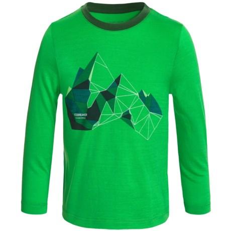 Icebreaker Tech Glass Mountain Shirt - Merino Wool, Long Sleeve (For Little and Big Kids)