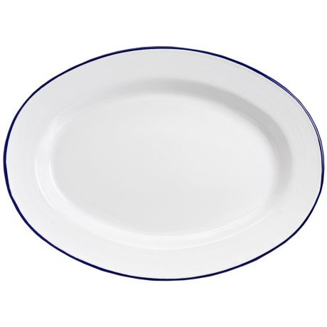Crow Canyon Enamelware Oval Plate