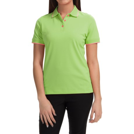 Knit Moisture-Wicking Polo Shirt - Short Sleeve (For Women)