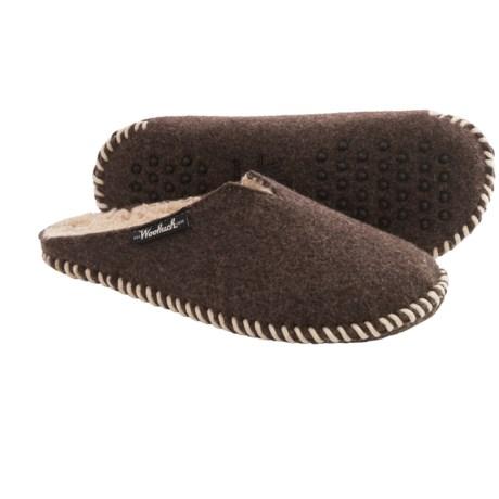 Woolrich Felt Mill Fleece-Lined Scuff Slippers (For Men)