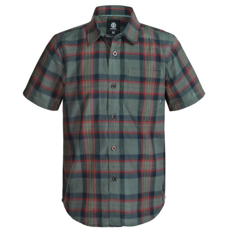 Element Benchmark Vintage Plaid Shirt - Short Sleeve (For Little and Big Boys)
