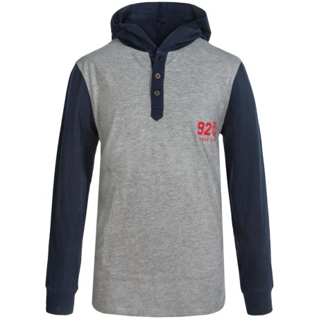 Element Creighton Hooded Henley Shirt - Long Sleeve (For Little and Big Boys)