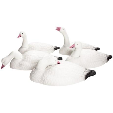 Hardcore Snow Goose Shell Touchdown Decoy - 12-Pack