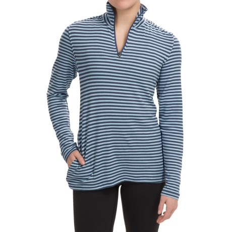 White Sierra Sierra Stripe Shirt - Zip Neck, Long Sleeve (For Women)