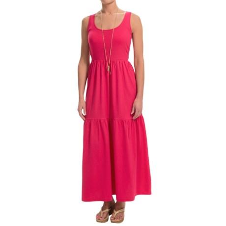 Joan Vass Tiered Cotton Maxi Dress - Sleeveless (For Women)