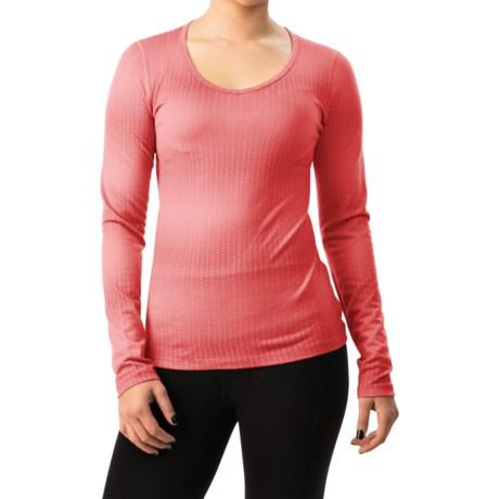 Icebreaker BodyFit 200 Oasis Matrix V-Neck Shirt - Merino Wool, Long Sleeve (For Women)