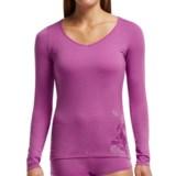 Icebreaker Siren Sweetheart Water Lily Base Layer Top - Merino Wool, Long Sleeve (For Women)