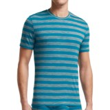 Icebreaker Bodyfit 150 Anatomica Stripe Shirt - UPF 30+, Merino Wool,  Short Sleeve (For Men)