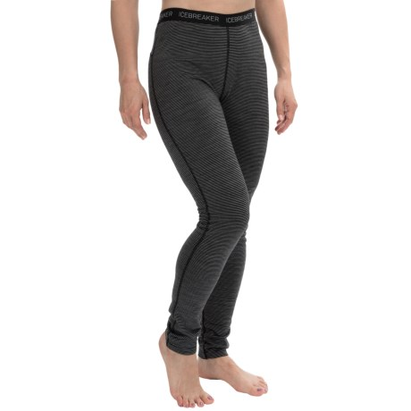 Icebreaker BodyFit 200 Oasis Stripe Base Layer Leggings - UPF 30+, Merino Wool (For Women)