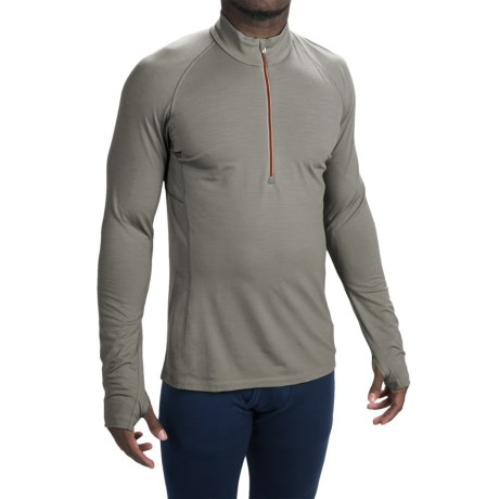 Icebreaker BodyFit 200 Zone Base Layer Top - UPF 40+, Merino Wool, Zip Neck, Long Sleeve (For Men)