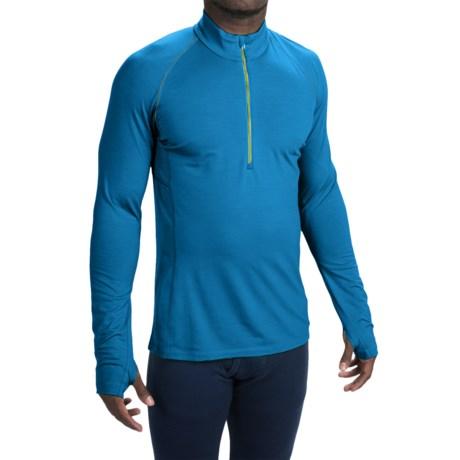 Icebreaker BodyFit 200 Zone Base Layer Top - UPF 40+, Merino Wool, Zip Neck, Long Sleeve (For Men)