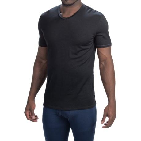 Icebreaker Anatomica Base Layer Top - Merino Wool, V-Neck, Short Sleeve (For Men)