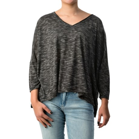 Space-Dyed Drop-Shoulder Shirt - 3/4 Sleeve (For Women)