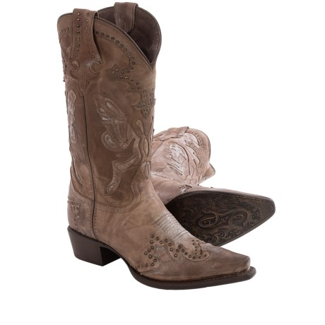 Sonora Riley Butterfly Cowboy Boots - Leather, Snip Toe (For Women)