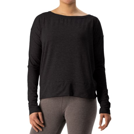 Athletic Shirt - Boat Neck, Long Sleeve (For Women)