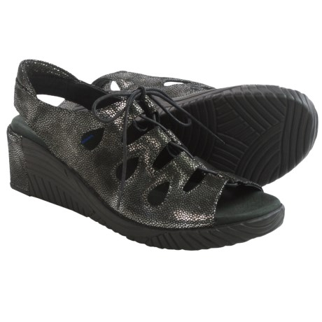Wolky Fogo Wedge Sandals - Leather (For Women)