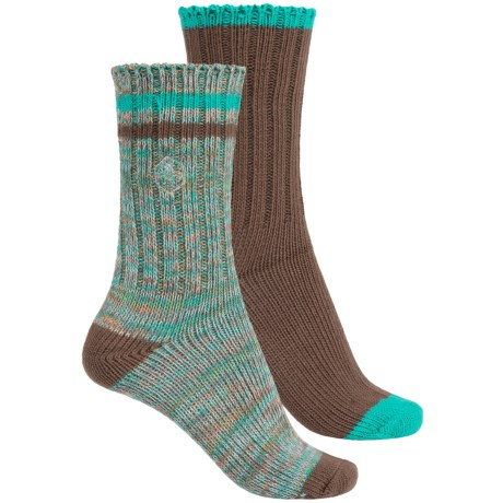 Khombu Melange Socks - 2-Pack, Crew (For Women)