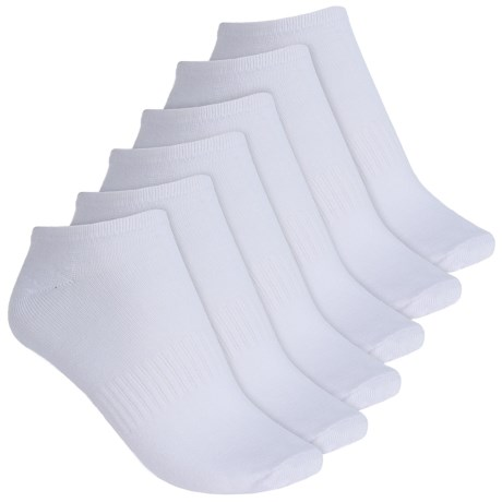 Sporto Classic No-Show Athletic Socks - 6-Pack, Below the Ankle (For Women)