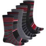 Khombu Half-Cushion Socks - 6-Pack, Crew (For Men)
