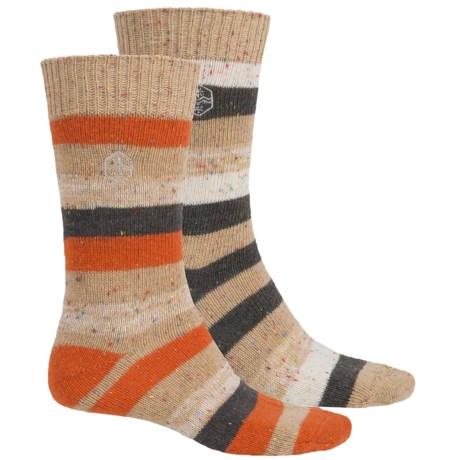 Khombu Nub Stripe Socks - 2-Pack, Crew (For Men)