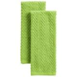 Chef's Essentials Bright Zigzag Terry Kitchen Towels - Set of 2